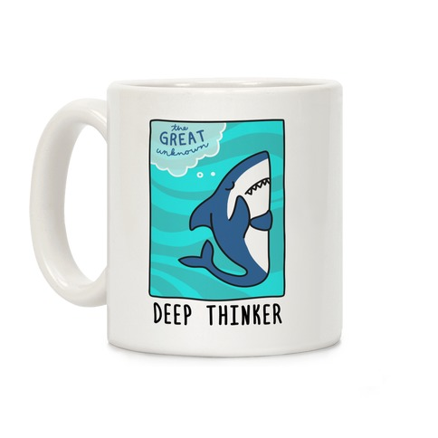 Deep Thinker Shark Coffee Mug