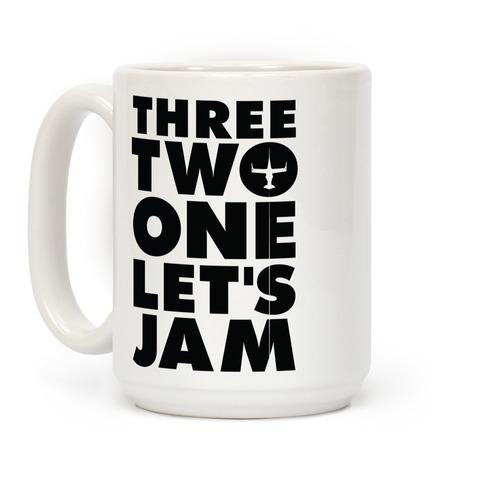 Three Two One Let's Jam Cowboy Bebop Coffee Mug