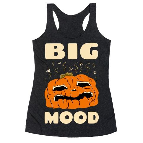 Big Mood Rotting Pumpkin Racerback Tank Top