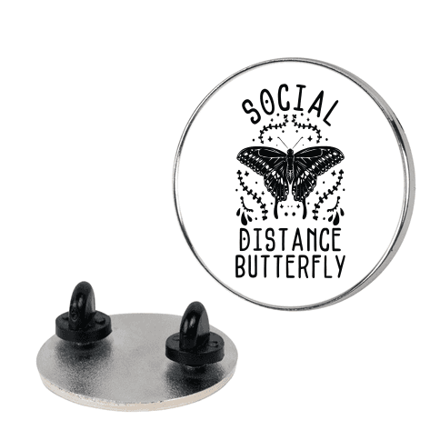 Social Distance Butterfly Pin