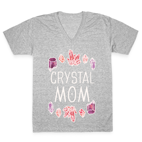 Crystal Mom V-Neck Tee Shirt
