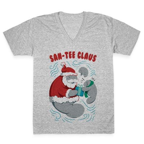 San-tee claus V-Neck Tee Shirt