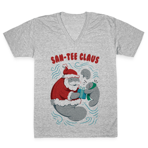 San-tee claus V-Neck Tee Shirt