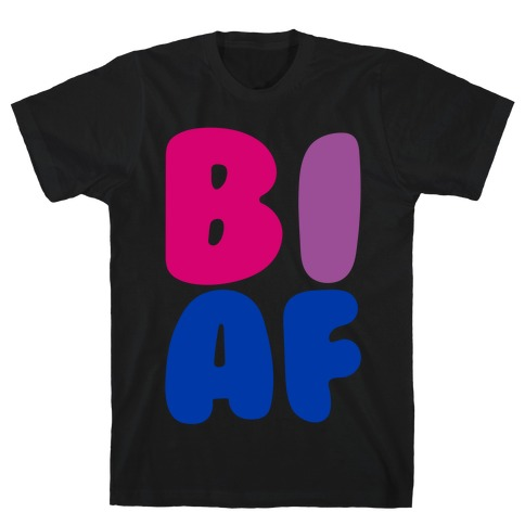 Bi Af White Print T-Shirt