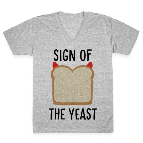 Sign of the Yeast V-Neck Tee Shirt