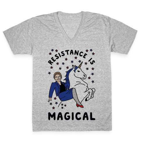 Resistance is Magical V-Neck Tee Shirt