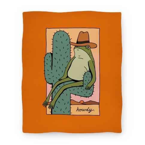 Howdy Frog Cowboy Blanket
