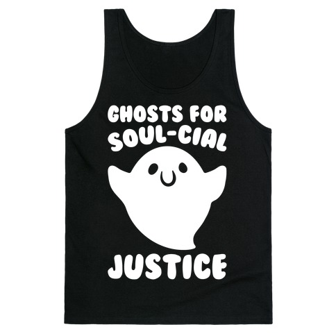 Ghosts for Soul-cial Justice White Print Tank Top