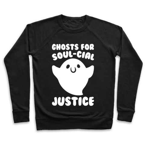 Ghosts for Soul-cial Justice White Print Pullover