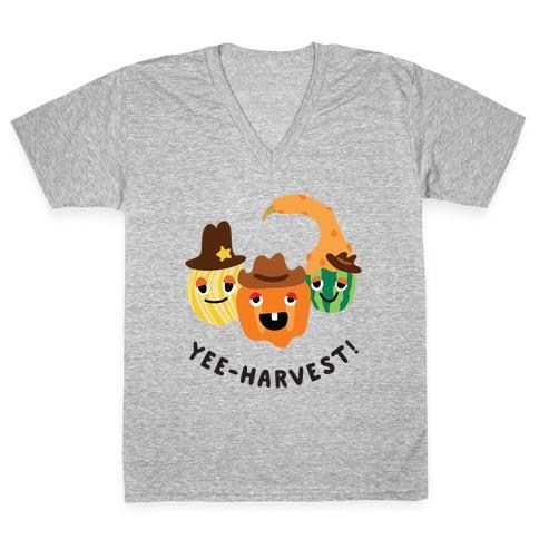 Yee-Harvest! V-Neck Tee Shirt