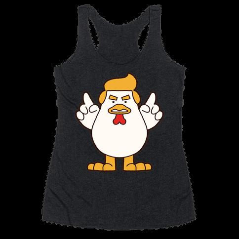 Kawaii Trump Chicken Racerback Tank Top