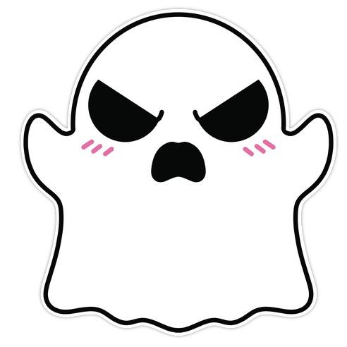 Angry Ghostie Die Cut Sticker
