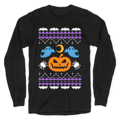 Ugly Halloween Sweater Long Sleeve T-Shirt