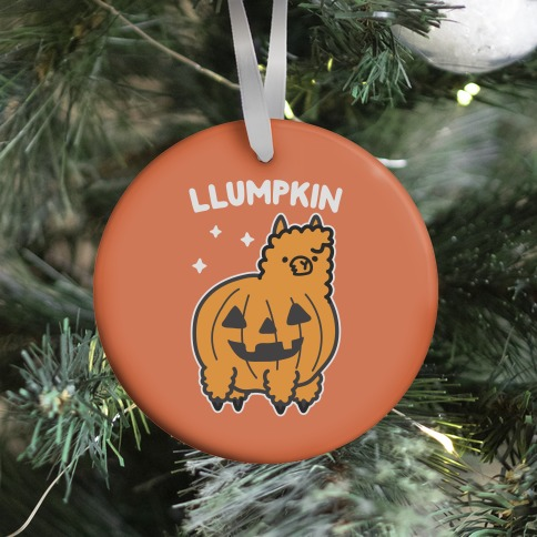 Llumpkin Llama Pumpkin Ornament