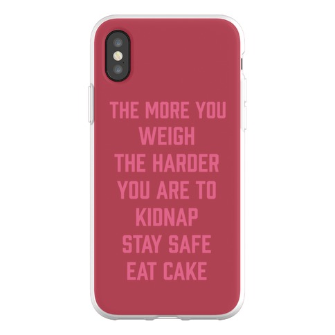 Stay Safe Eat Cake Phone Flexi-Case