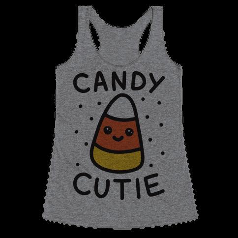 Candy Cutie Candy Corn Racerback Tank Top