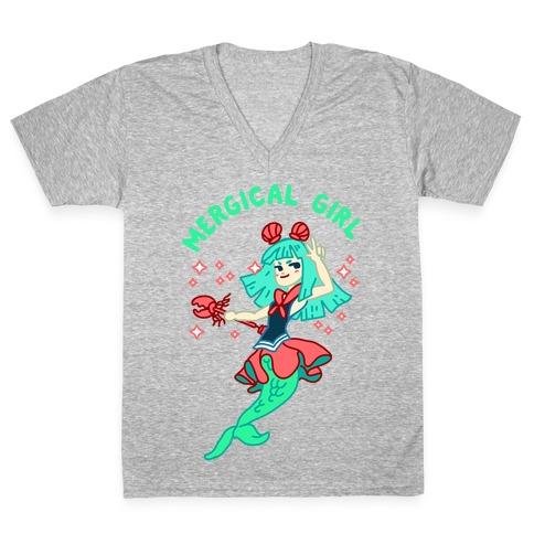 Mergical Girl V-Neck Tee Shirt
