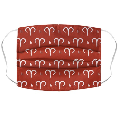 Aries Symbol Pattern Red Face Mask Cover
