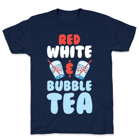 Red, White & Bubble Tea Mens T-Shirt