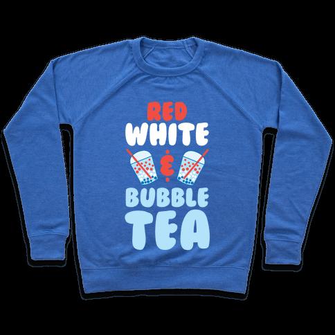 Red, White & Bubble Tea Pullover