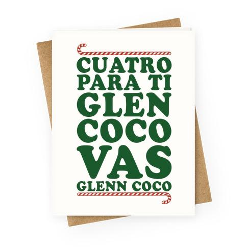 Cuatro Para Ti Glen Coco Vas Glenn Coco Greeting Card
