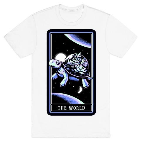 The World Tarot Turtle Terrarium T-Shirt