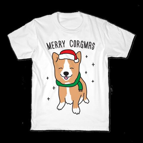 Merry Corgmas Kids T-Shirt