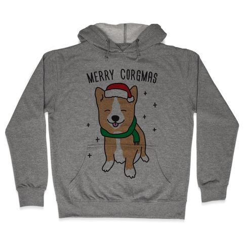 Merry Corgmas Hooded Sweatshirt