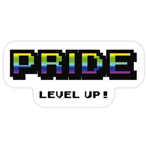 Pride Level Up! Die Cut Sticker