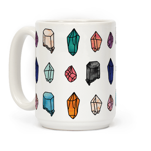 Watercolor Crystal Pattern Coffee Mug