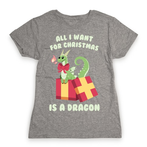 All I Want For Christmas Is A Dragon Womens T-Shirt