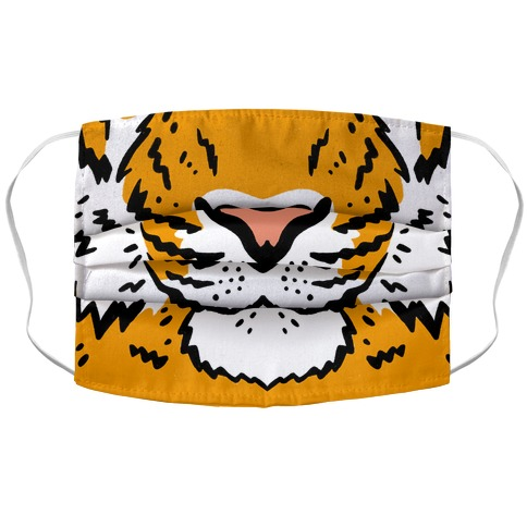 Tiger Face Accordion Face Mask