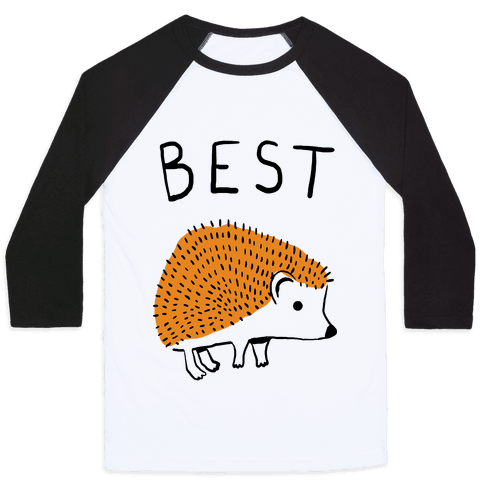 Best Buds Hedgehog Baseball Tee