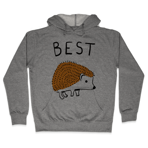 Best Buds Hedgehog Hooded Sweatshirt