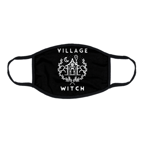 Village Witch Flat Face Mask