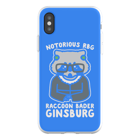 Notorious RBG Raccoon Bader Ginsburg Parody Phone Flexi-Case