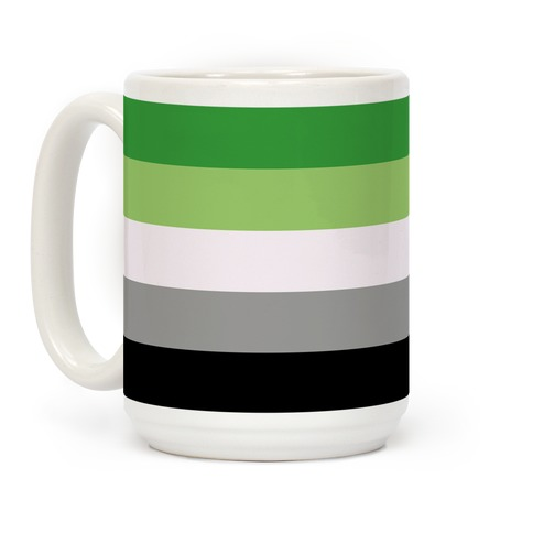 Aromantic Pride Flag Coffee Mug