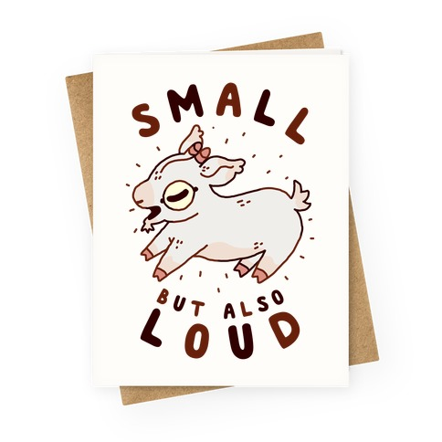 Small But Also Loud Baby Goat Greeting Card