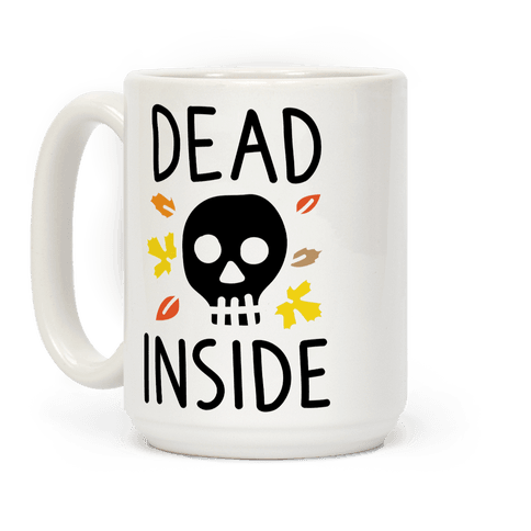 Dead Inside Autumn Skull Coffee Mug