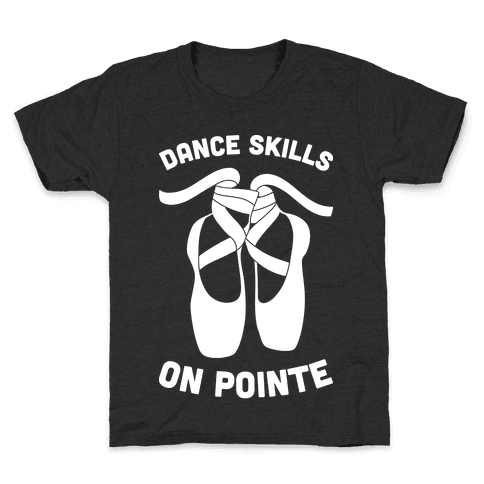 Dance Skills On Pointe (White) Kids T-Shirt