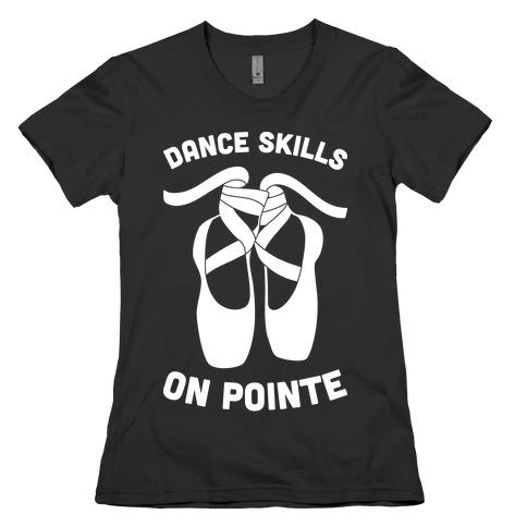 Dance Skills On Pointe (White) Womens T-Shirt