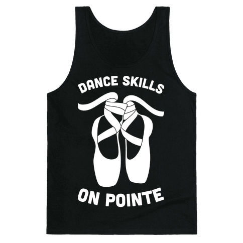 Dance Skills On Pointe (White) Tank Top