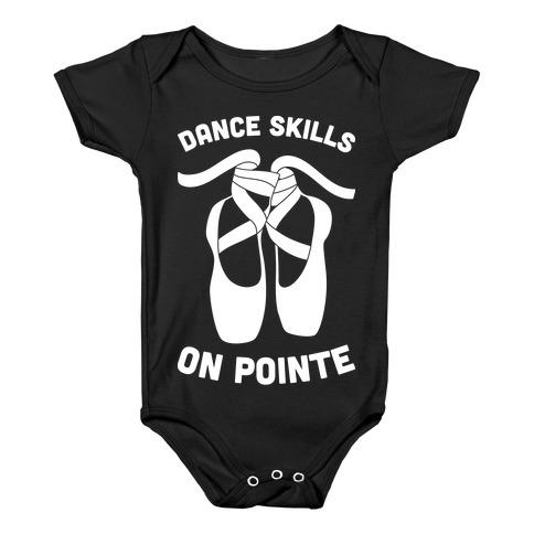 Dance Skills On Pointe (White) Baby Onesy