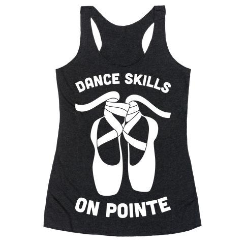 Dance Skills On Pointe (White) Racerback Tank Top