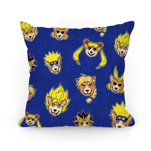 Anime Hair Corgis Pillow