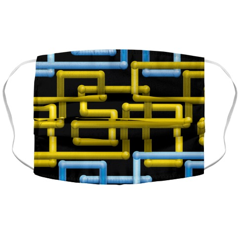 Retro Pipe Screen Saver Accordion Face Mask