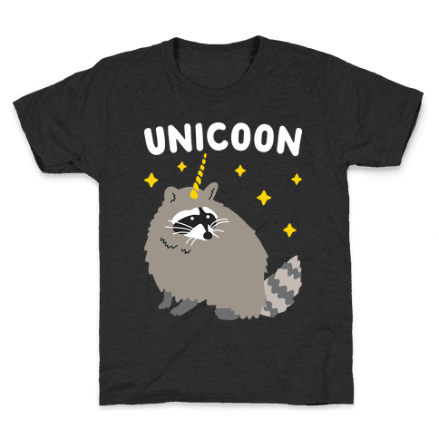 Unicoon Raccoon Unicorn  Kids T-Shirt