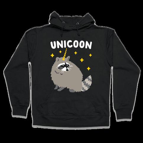 Unicoon Raccoon Unicorn  Hooded Sweatshirt