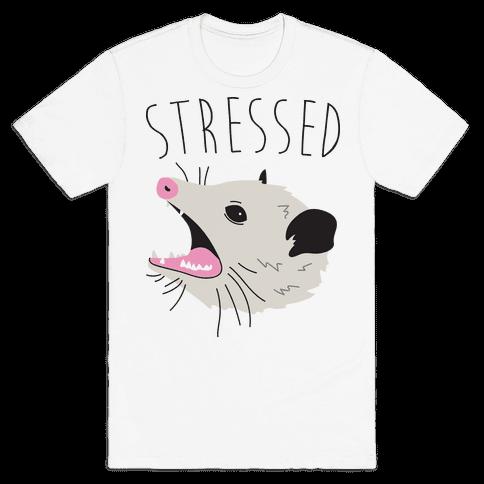 Stressed Opossum Mens T-Shirt