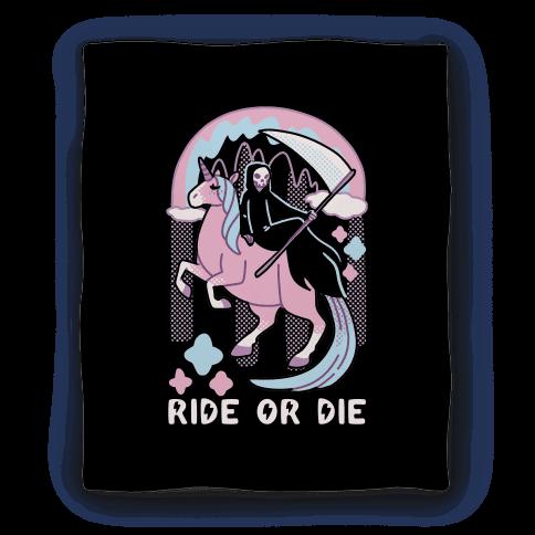 Ride or Die - Grim Reaper and Unicorn Blanket